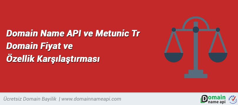 Domain Name API ve Metunic Tr Domain Fiyat ve Özellik Karşılaştırması