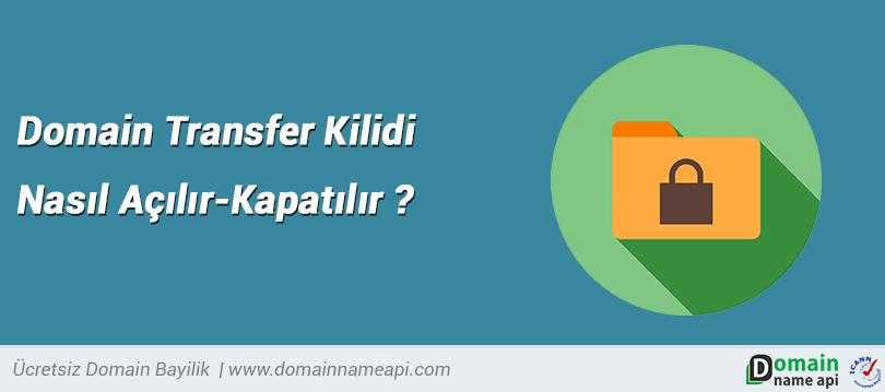 Domain transfer kilidi nasıl açılır – kapatılır?