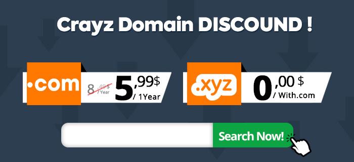Register .COM Domain for 5,99$