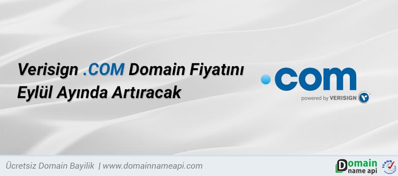 .COM Domain Fiyatı Eylul Ayında Artacak