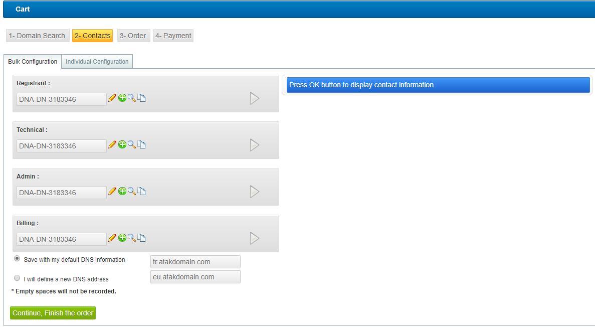 регистрация az домена